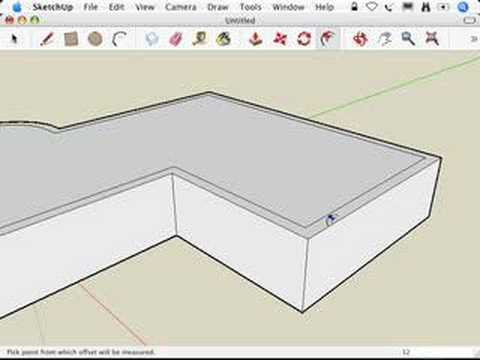 SketchUp: Building flat roofs with parapets