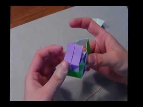 Modular Origami:  Cube (6 units)