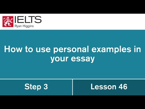 How to include personal examples in your IELTS essay