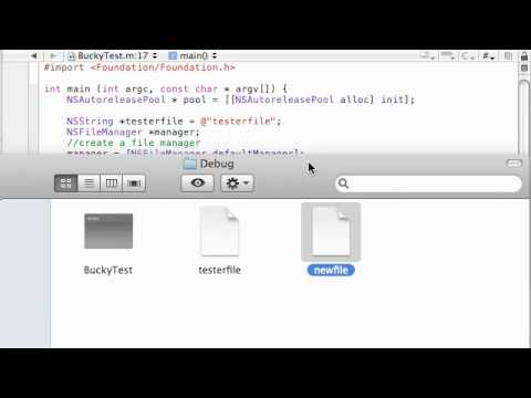 Objective C Programming Tutorial - 61 - Copy and Rename Files