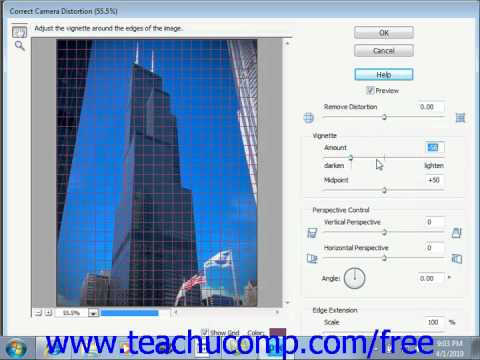 Photoshop Elements 9.0 Tutorial Correcting Camera Distortions Adobe Training Lesson 13.19