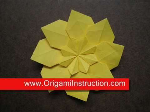 How to Fold Origami Star in a Star Mandala   OrigamiInstruction com