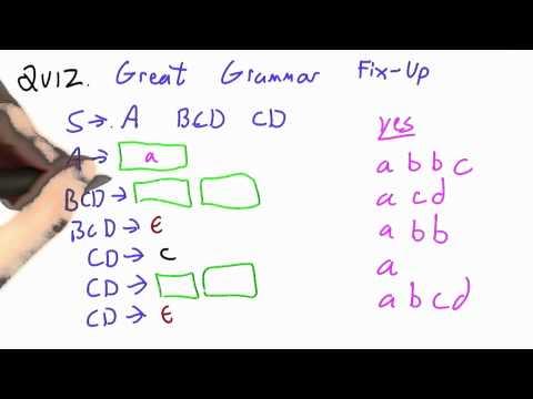 Great Grammar Fixup Solution - CS262 Unit 7 - Udacity