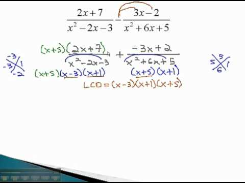 Add and Subtract - Different Denominators (part 2) - YouTube.mp4