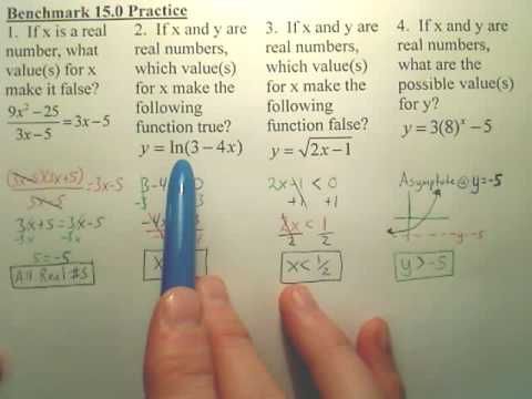 Benchmark 15 Practice - Algebra 2