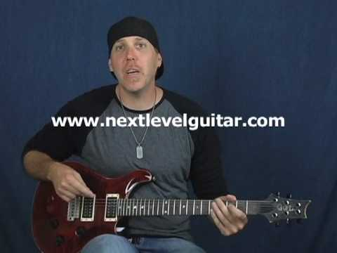 Guitar lesson on cool rock jazz arpeggio ala Jeff Beck played on Paul Reed Smith electric PRS