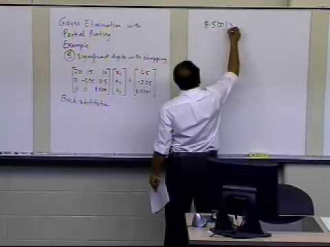 Gaussian Elimination with Partial Pivoting: Round Off Issues: Example: Part 3 of 3