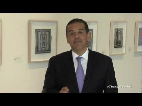 LA Mayor Antonio Villaraigosa Thanks Teachers