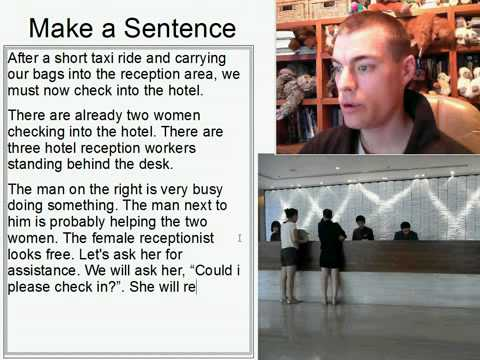 Learn English Make a Sentence and Pronunciation Lesson 130: Hotel Check-in