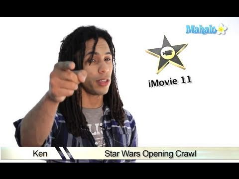 Learn iMovie 11 - How to Recreate the Star Wars Title Crawl in iMovie 11
