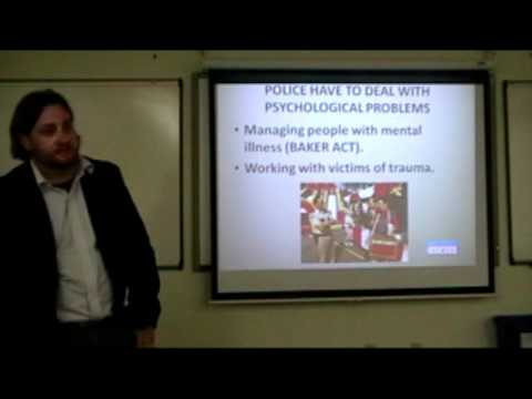 Eric Silk Psychology and Law Enforcement Lecture Part 3