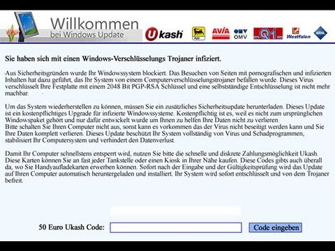 Remove Trojan.Ransom Willkommen bei Windows Update by Britec