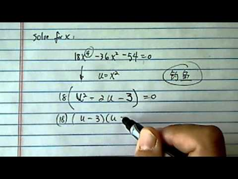 Solve Higher Order Polynomial Equation: 18x^4 - 36x^2 - 54 = 0
