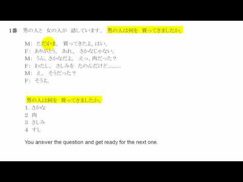 Japanese Lessons- Test Practice