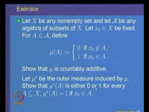 Mod-03 Lec-10 Outer measure and its properties