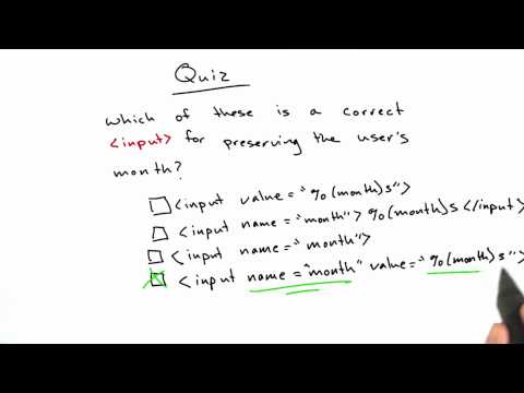 Preserving User Input Solution - CS253 Unit 2 - Udacity