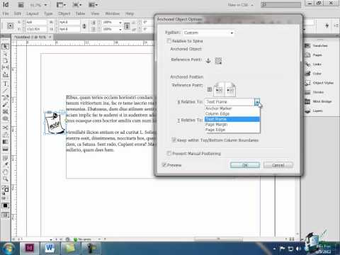 InDesign CS6 Tutorial: Anchoring Objects with Text - Part 2
