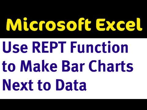 Excel Repeat REPT Function Makes Bar Chart Next to Data