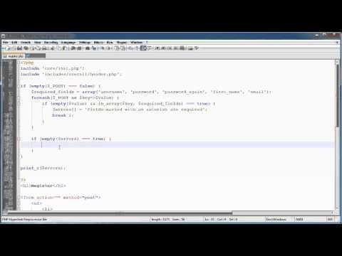 PHP Tutorials: Register & Login (Part 10): Registration Form and Validation (Part 2)