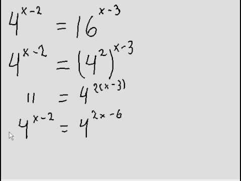 Exponential Equations - question with different bases (easy!)