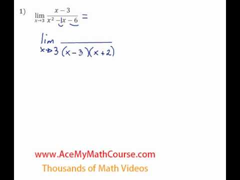 Limits - Evaluating by Factoring