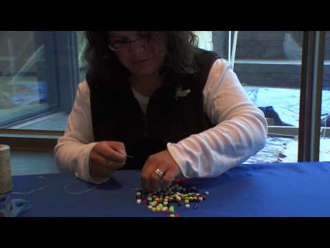 How to make a daisy chain bracelet: step-by-step with Teri Greeves (Kiowa)