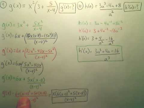 Ch 2 Test Review (Derivatives)e - Calculus