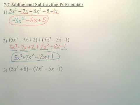Algebra 1 7.7