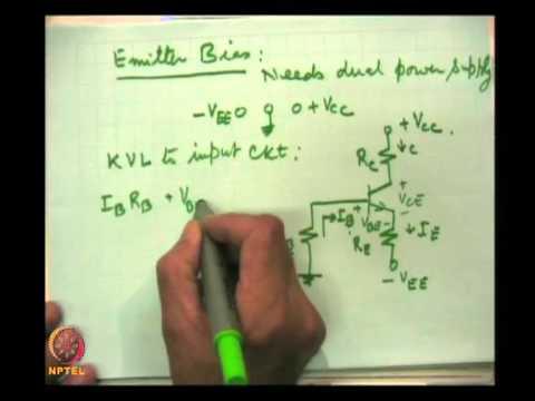 Mod-02 Lec-10 Biasing of transistor