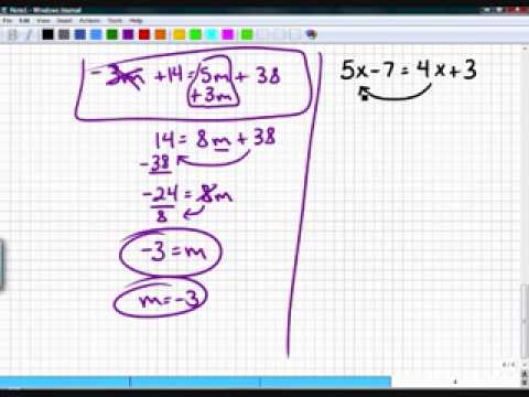 Algebra One Section 3.4 Part 1