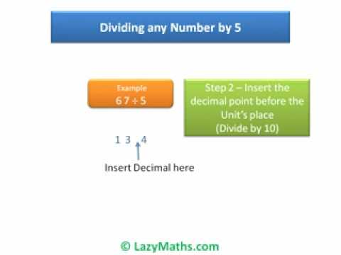 Ex 1  Dividing any number by 5