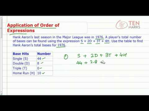 Order of Operations - Applications
