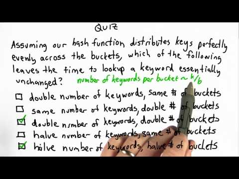 Keywords And Buckets Solution - CS101 - Udacity