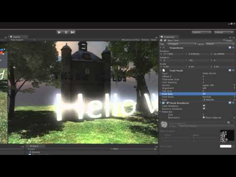 Unity 3D Tutorials - Create a Cool 3D Main Menu