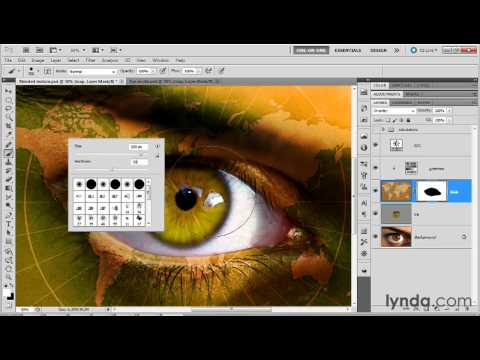 Paint a map inside of an eye | lynda.com tutorial