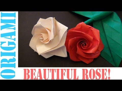 Origami Daily - 177: Beautiful Rose No.03 Stefan Weber  (Valentine's Day) - TCGames [HD]