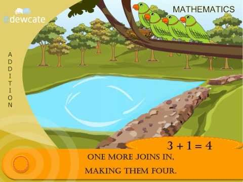 Addition Rhymes for kids - Parrots