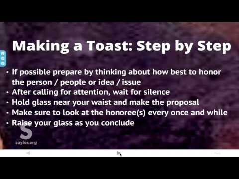 Saylor BUS210: How to Give a Toast