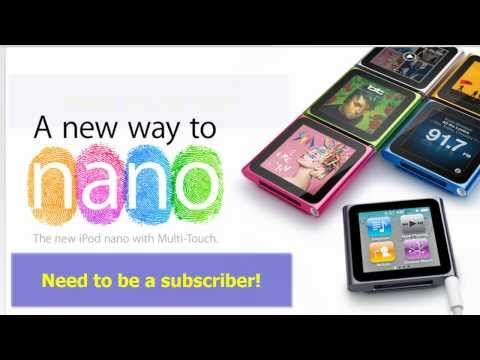 [contest over] Win a Free 8GB iPod Nano 6g - I'm giving one away!