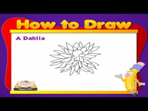 Learn to Draw Flower - Dahlia