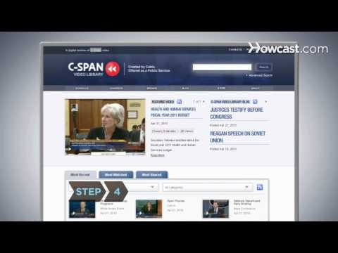 How To Search the C-SPAN Video Library
