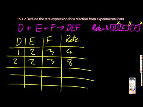 16.1.2 Deduce the Rate Expression for a Reaction from Experimental Data  IB Chemistry