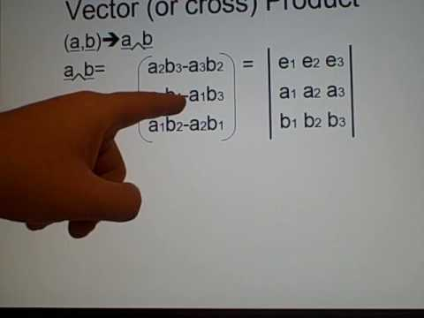 Vector Multiplication - Cross and Dot product