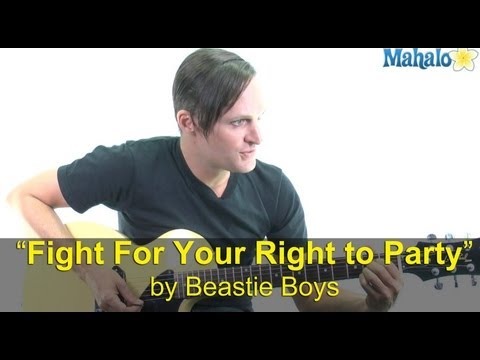 "How to Play ""Fight for Your Right to Party"" by Beastie Boys on Guitar"