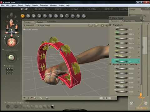 Poser 7 Tutorial - Parenting Objects and Body Parts