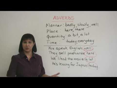 Where do I put the adverb?