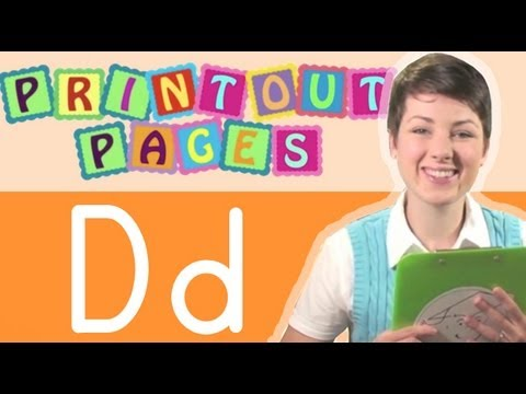 Learn to write letter D with Ms. Victoria, Learn the alphabet with Printout Pages on TinyGrads