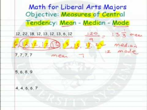Measures of Central Tendency - Mean - Median - Mode