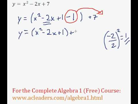 (Algebra 1) Quadratics - Completing the Square Pt. 5