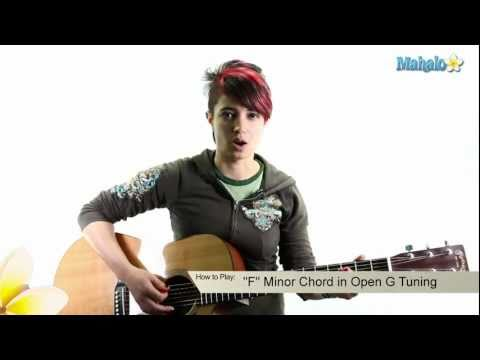 How to Play an F Minor Chord in Open G Tuning on Guitar